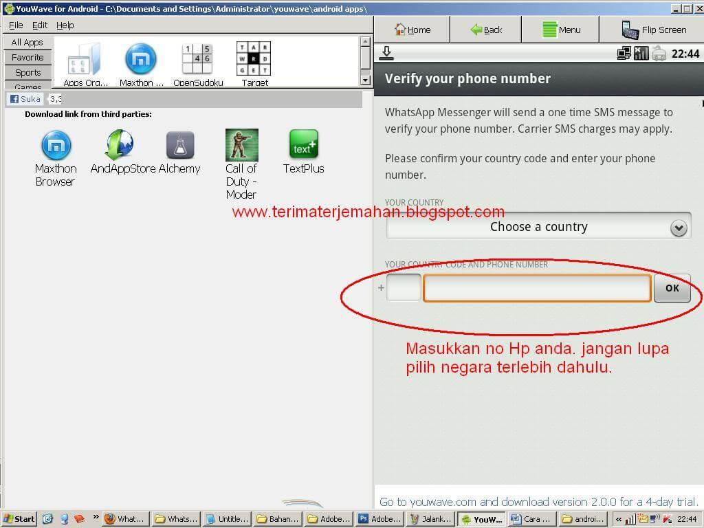Cara Memasang Whatsapp Di Komputer Win XP 14
