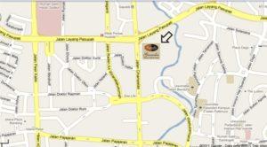 Peta Lokasi Grandia Restoran Bandung