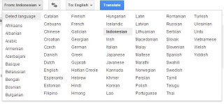 Dukungan Bahasa Google Translate