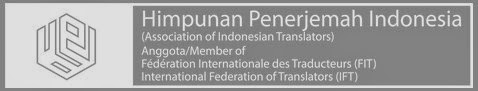 Spanduk Logo HPI Himpunan Penerjemah Indonesia Association of Indonesian Transaltors