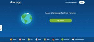 Halaman Depan Aplikasi Duolingo