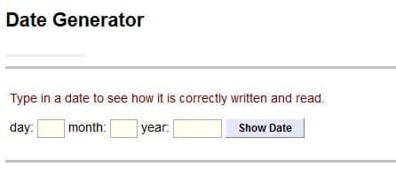 Cara Penulisan Tanggal Dalam Bahasa Inggris Date Generator