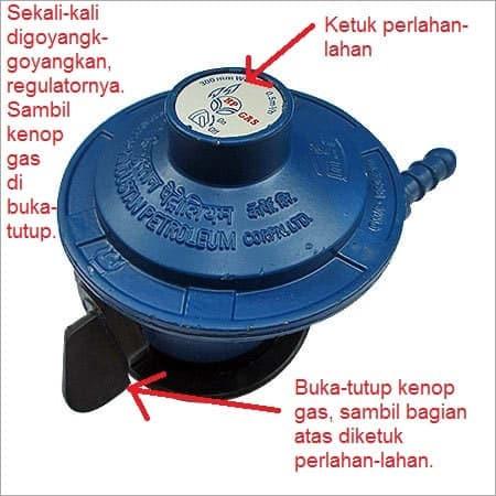 Ilustrasi cara mengatasi kompor gas tidak mau hidup. Regulator gas.