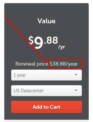Harga Value Hosting Namecheap