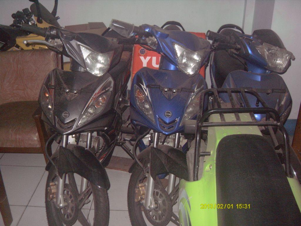 Jual motor kaisar Sprinter mx 125 coklat dan biru
