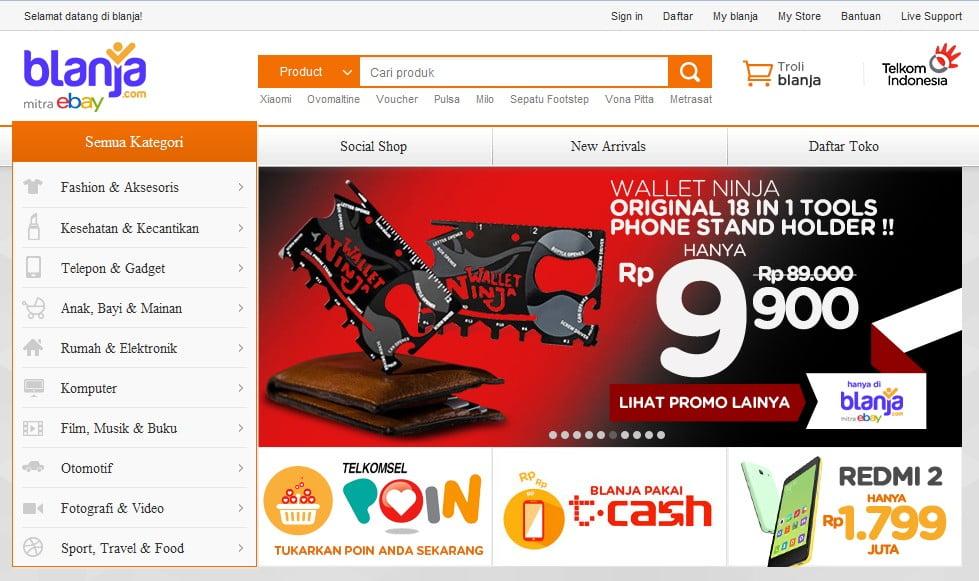 Situs Jual Beli Online Blanja.com