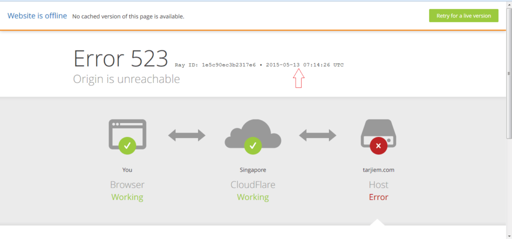 Hosting Namecheap Error 523 Connection timed out