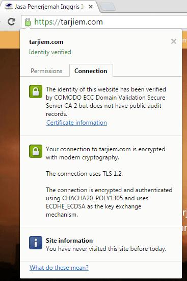 sertifikat ssl tarjiem comodo positivessl