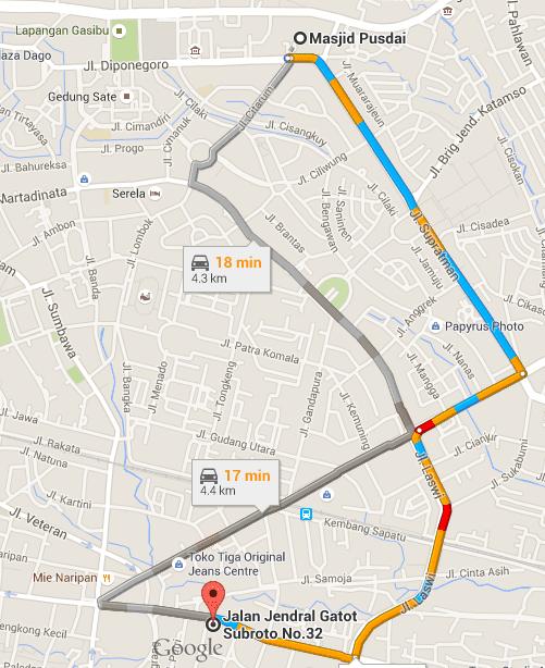 Lokasi Bubur Ayam dari Google Maps