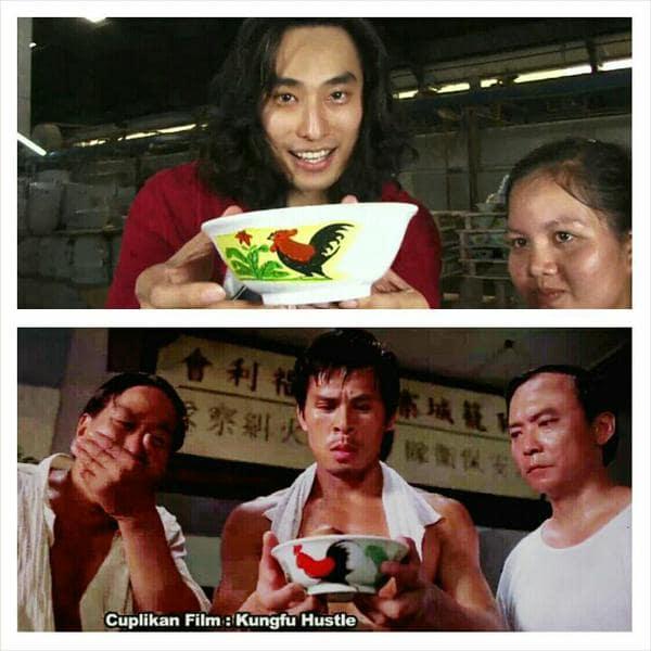 Mangkuk Ayam Jago yang terkenal dalam film Kung Fu Hustle t.co/PrEqtV9eHo