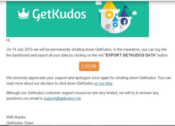 GetKudos.me Ditutup Total Tanggal 14 Juli 2015