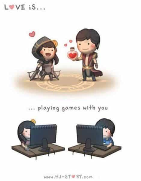 Komik Cinta itu adalah bermain- komik cinta dan persahabatan percintaan