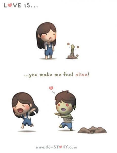 Komik Cinta itu adalah hidup-komik tentang cinta