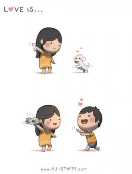 Komik Cinta itu adalah memberi