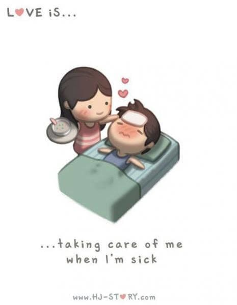 Komik Cinta itu adalah peduli-komik cinta sedih