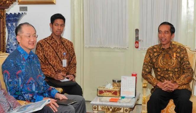 Ilustrasi saat Bapak Jokowi bersama Jim Young Kim, Presiden Bank Dunia.