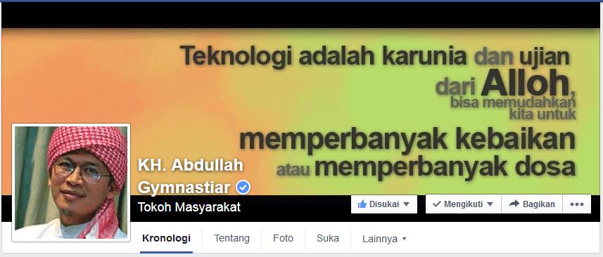 Kutipan facebook fanspage AaGym yang keren.