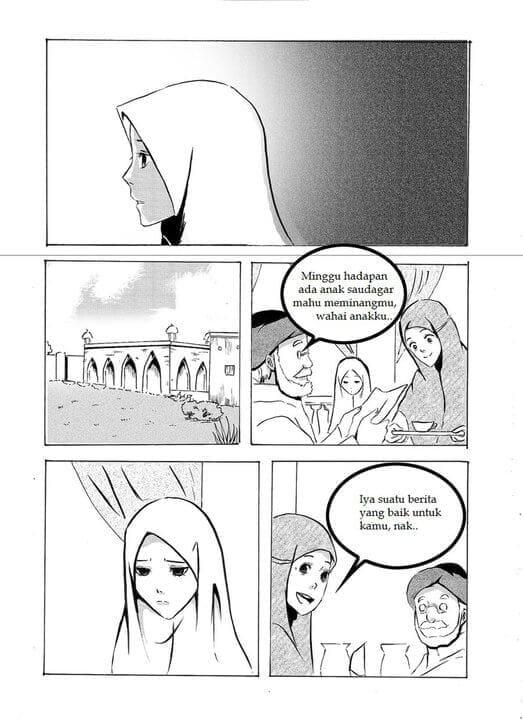 Halaman 13 Komik Cinta bergambar Romantis Cerita Nyata