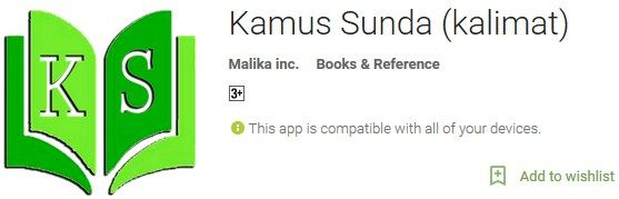 Kamus Sunda (Kalimat) Aplikasi Android Translate Bahasa Sunda