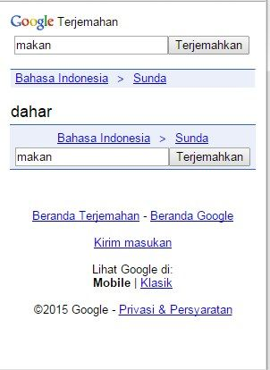Arti Makan Google Translate Bahasa Sunda
