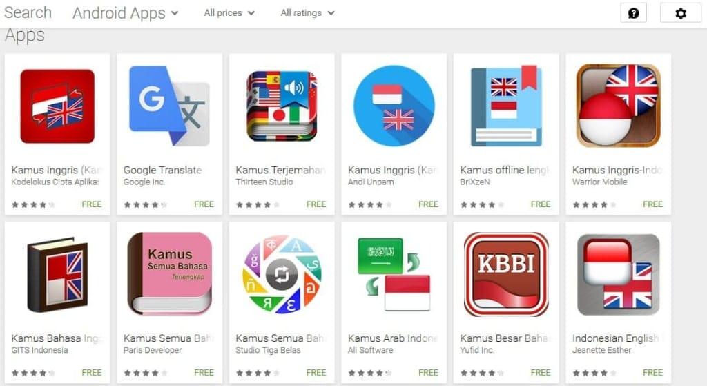 Daftar Aplikasi Kamus Inggris Indonesia Android Google Playstore