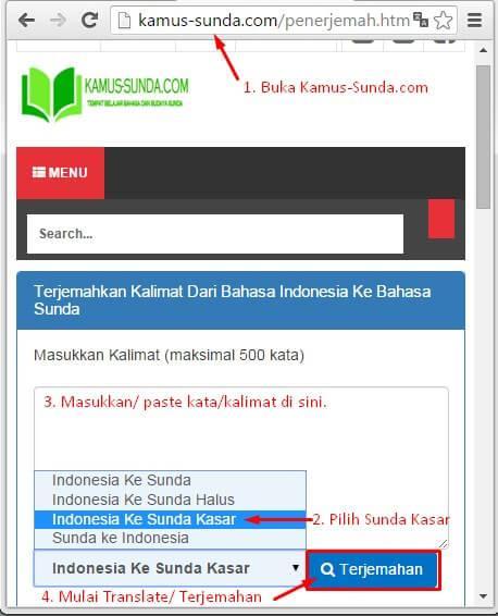 Cara Translate Bahasa Sunda Kasar Online Dengan Kamus