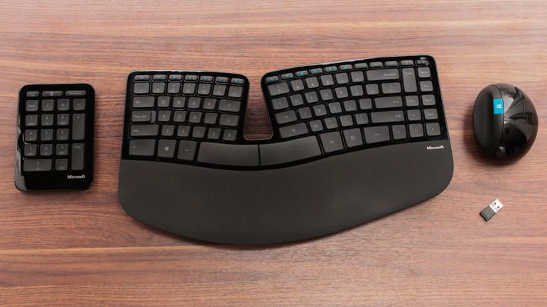 MICROSOFT Sculpt Ergonomic Desktop USB via Cnet.com