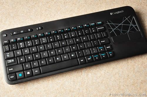 Papan ketik sekalian mouse LOGITECH Wireless Touch Keyboard K400r