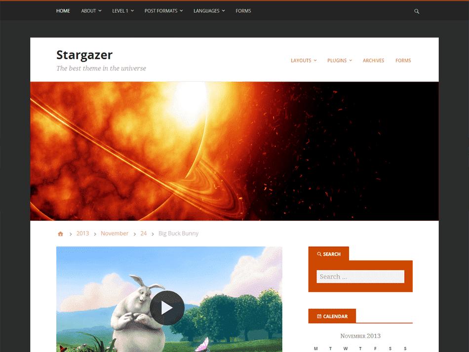 Tampilan Stargazer ThemeHybrid.com
