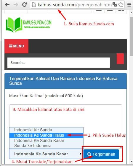 Cara Translate Bahasa Sunda Halus Online