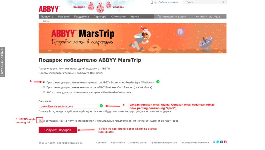 Cara Mendapatkan ABBYY Screenshot Reader Gratis via abbyy.ru