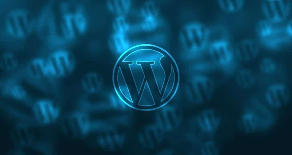 Logo WordPress Sampul Biru Keren