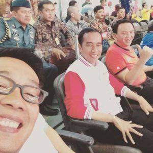 Ridwan Kamil, Jokowi Dodo, Ahok, Foto Selfie Bareng