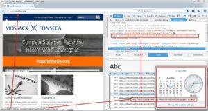 """Bukti Situs Mossfon.com yang Menggunakan Wordpress (kasus Panama Papers). Cara mengeceknya klik kanan di Browser Lalu pilih """"Inspect Element""""."""