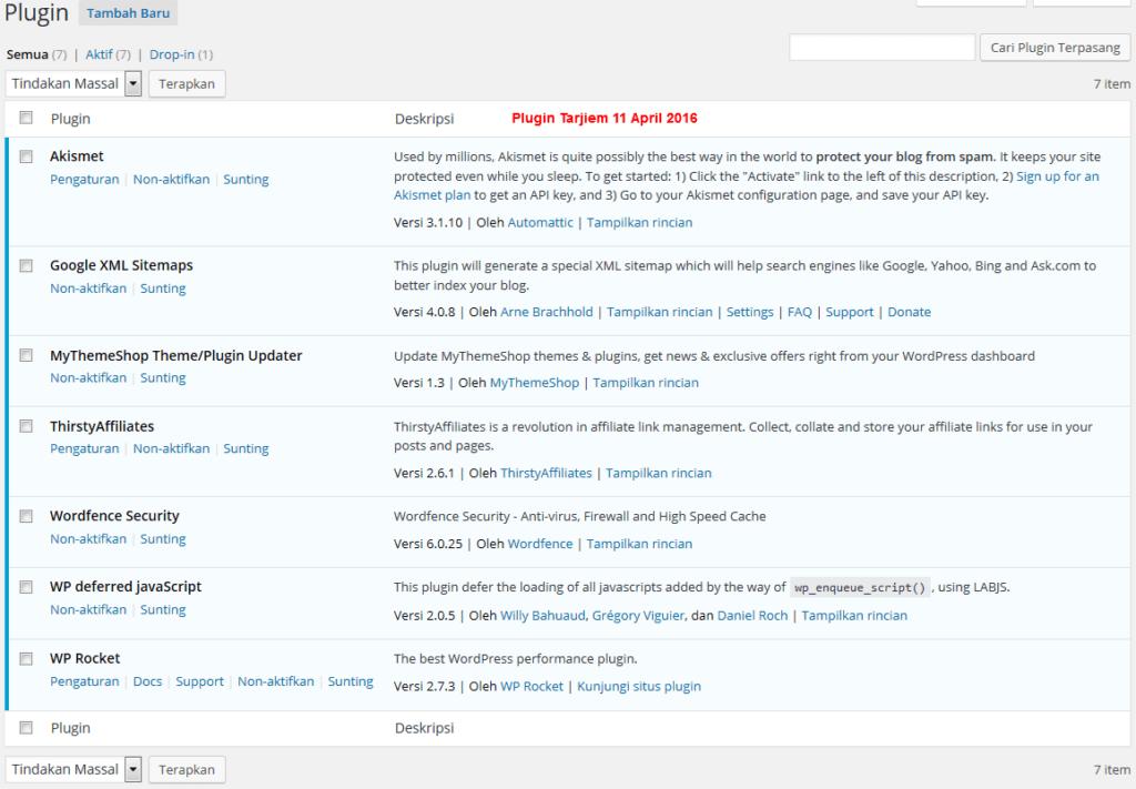 Daftar 7 Plugin WordPress Tarjiem April 2016 waktu menggunakan Schema
