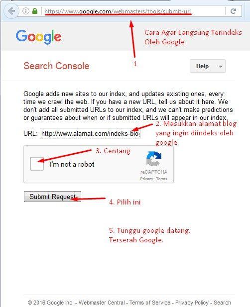 Cara Agar Cepat Terindeks Langsung oleh Google (Submit URL) di Google Search Console