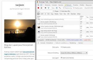 Nilai Halaman Depan tarjiem Koneksi Lambat 2G versi Google Chrome Juni 2016 (VPS 512MB, Nginx, Twenty Twelve)