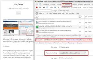 Nilai Halaman Pos Koneksi Lambat 2G, 7 Gambar, 2 iklan Adsense, versi Google Chrome Juni 2016 (VPS 512MB, Nginx, Twenty Twelve)
