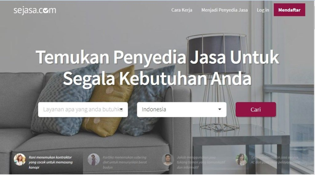 Homepage Situs Sejasa.com