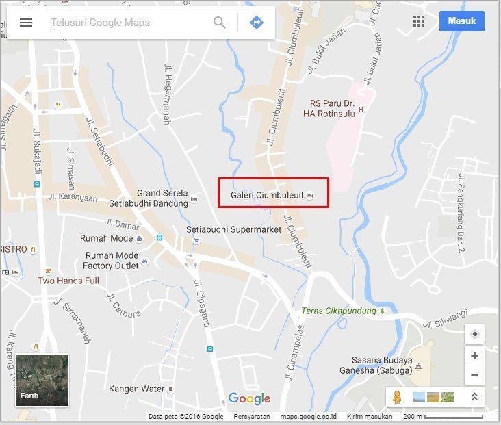 Galeri Ciumbuleuit Hotel dan Apartemen Kota Bandung Peta Google Maps