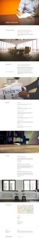 Cuplikan Desain Beranda Lengkap Tema WordPress Twenty Seventeen di Tampilan Komputer