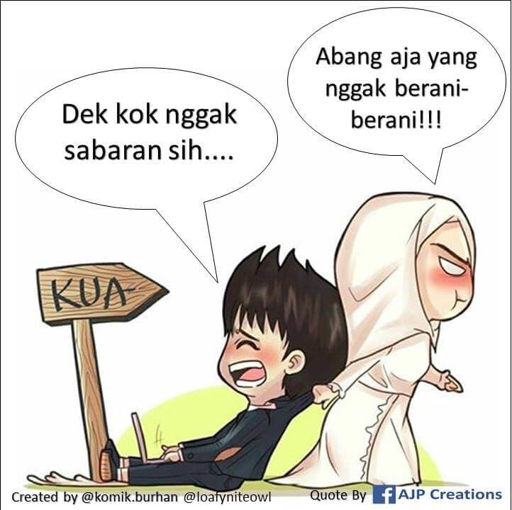 Abang aja yang gak berani-berani - Komik Romantis Muslimah