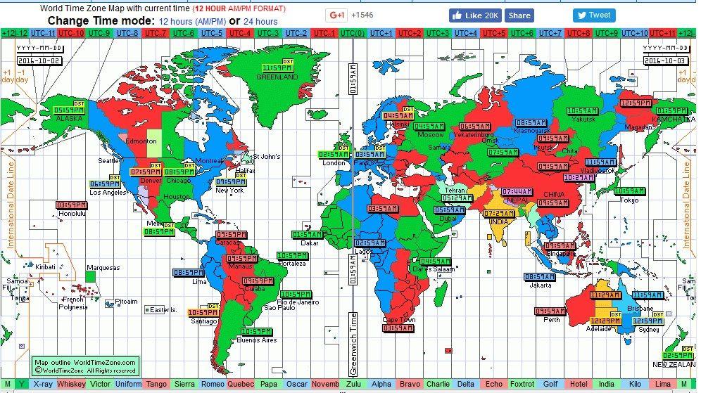 Peta Jam dunia Internasional pada saat Jam 08:59 WIB Waktu Jakarta 3 September 2016 (worldtimezone.com)