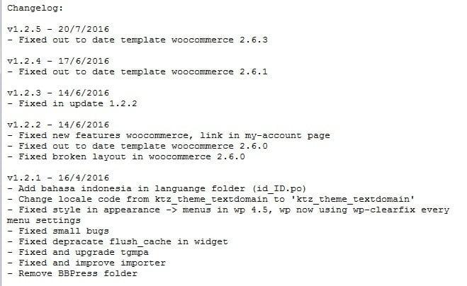 Contoh Catatan Perubahan/Changelog Flatsimplebingit Kentooz.com