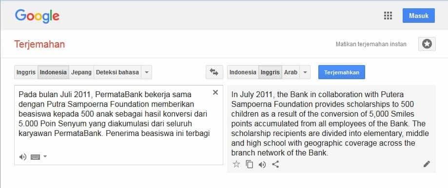 Translate Bahasa Indonesia ke Bahasa Inggris yang Baik dan Benar Mantap