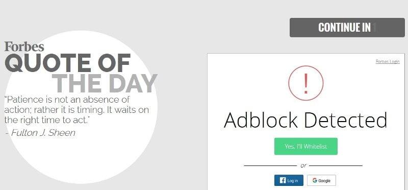 Forbes.com Melarang Penggunaan Ad Block
