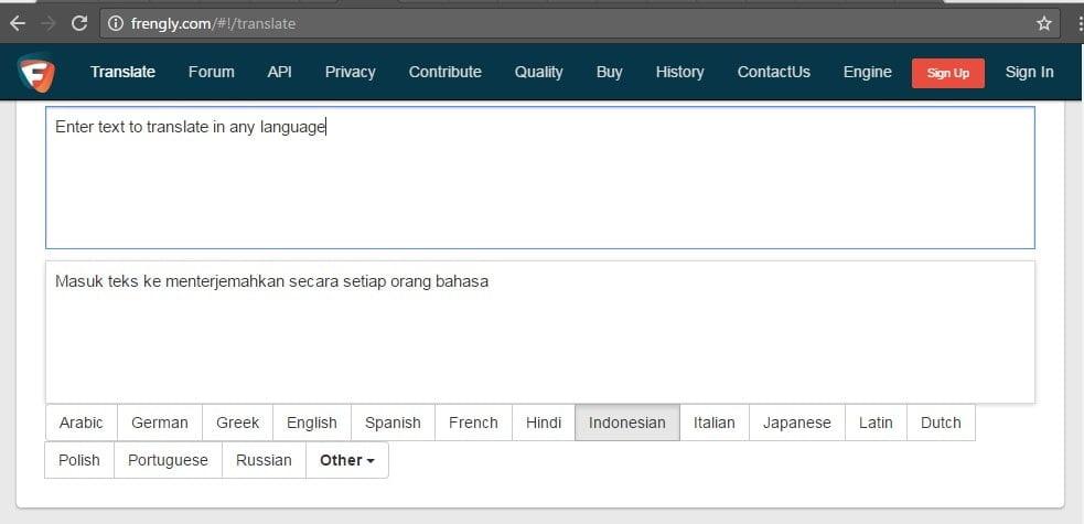 Frengly.com - Situs Penerjemah Online Selain Google Translate