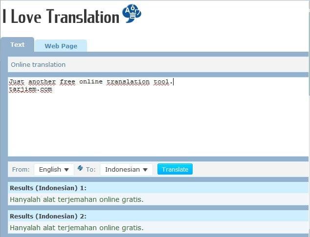 ILoveTranslation.com - Alat Translate Inggris Indonesia Kalimat