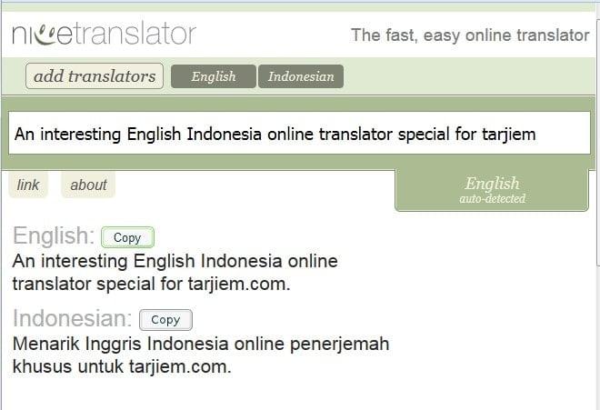 NiceTranslator.com - Alat Translate Inggris Indonesia Online Gratis