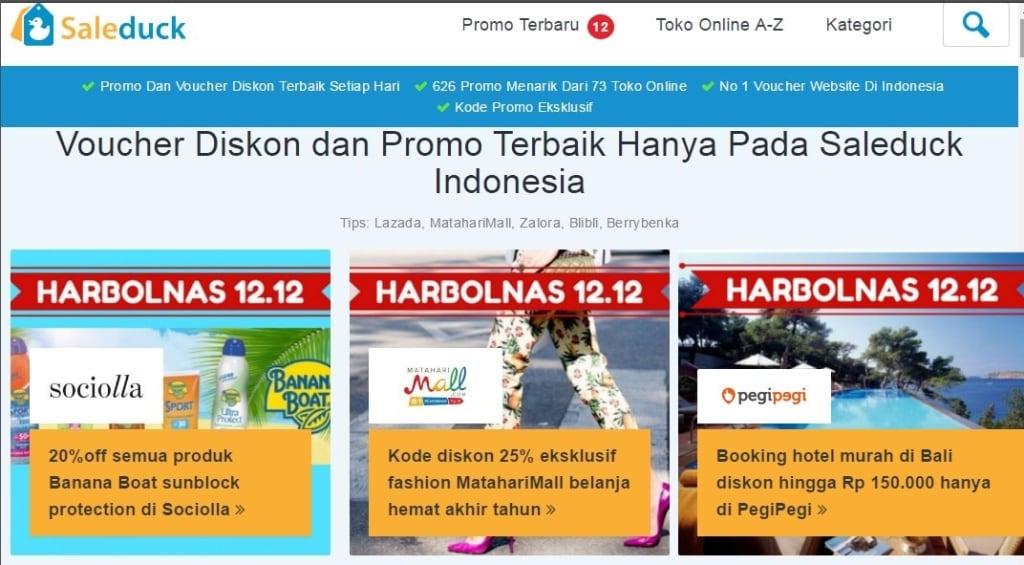 Beranda Saleduck.co.id | Informasi Kode KuponBelanja Murah Secara Daring